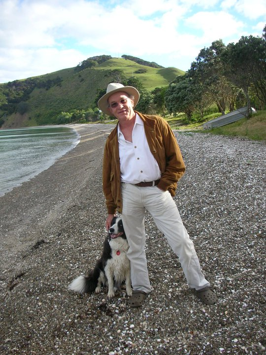 Andy with Rosie on Waiheke