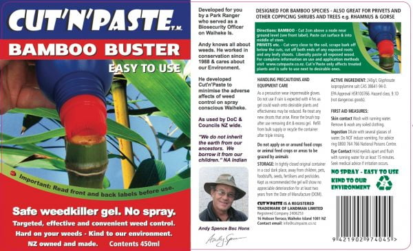 Bamboo Buster Label
