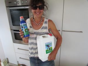 Julie Hamilton with her Weekend Gardener prize