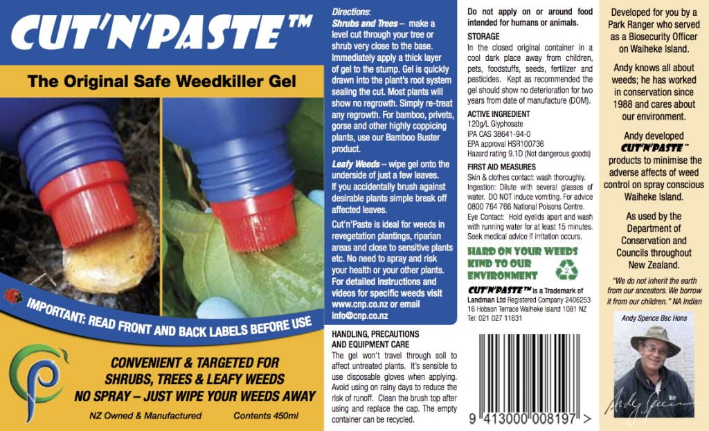 Cut'n'Paste Original Weed Gel is all you need for weeding